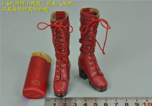 "TBLeague 1:6 Scale 1/6th Painkiller Jane red boots F12"" PH Female Action"