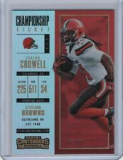 2017 Panini Contenders Base Championship Ticket #45 Isaiah Crowell 87/99