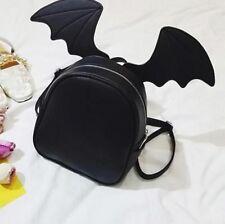 Women Backpack Fashion Vintage Retro Zippers Polyesters Trendy Bat Wings Pattern