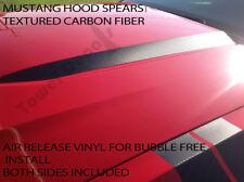 2010-2012 FORD MUSTANG CARBON FIBER HOOD SPEARS RACING VINYL DECAL GT 5.0L