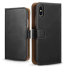 Genuine Leather Wallet Case For New Apple iPhone X Best Slim Flip Folio Cover