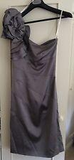 Vestido Para Mujer KAREN MILLEN Plata BNWT UK Size 6 EUR34 RRP £ 180 impresionantes formal