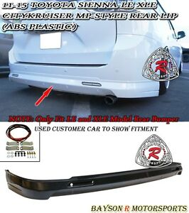 MP Style Rear Lip (ABS) Fits 11-20 Toyota Sienna [Won't Fit SE Model]
