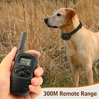 Rechargeable Electric Dog Training Collar Shock Collar With LCD Remote Anti-Bark