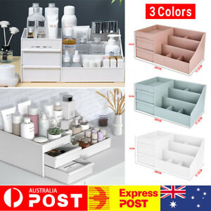 Makeup Organiser Storage Box Cosmetic Jewelry Tissue Cabinet with 2 Drawer Case