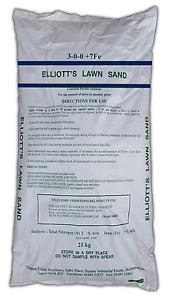 Elliott's Lawn sand 3-0-0+7Fe 25kg