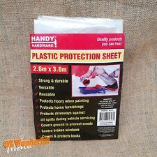 2.6m x 3.6m Plastic Protection Sheet Disposable Drop Painting Paint Dust Cover