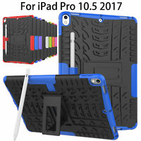 "New Slim Hybrid Hard Armor Shockproof Back Stand Case For iPad Pro 10.5"" Tablets"