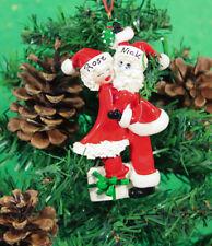 Personalised Couples Christmas Tree Ornament Decoration Santa Mistletoe Couple