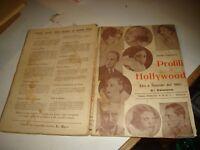 PROFILI DI HOLLYWOOD di MARIO BAFFICO - C.ED. A.G.E.T. MILANO 1930