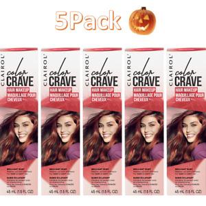 5 Pack Clairol Color Crave Hair Makeup Brilliant Ruby 1.5 fl. oz.Each 🎃🎃🎃