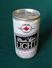 BLACK LABEL LIGHT BEER CAN 12 OZ ALUMINUM EMPTY PULL TAB TOP BO VINTAGE 1970's