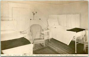 1910s Vermont RPPC Photo Postcard Nahum Charles Dodge Room, SPRINGFIELD Hospital
