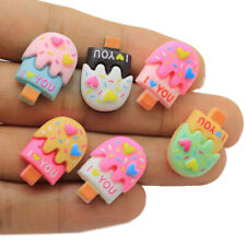 10pc Kawaii Cake Ice Cream Resin Cabochons Flatback For DIY Phone Decoration