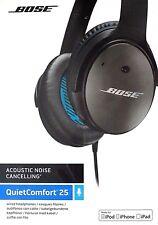BOSE QuietComfort 25 QC Audio-Hifi-Kopfhörer ANC Lärm-Reduktion Apple Schwarz