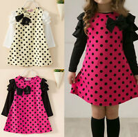 1 PCS Of Top Sale Kids Children Girls Clothing One-piece Skirt Dress Size 2-7Y