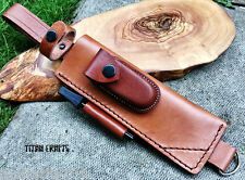 TITANs Premium Handmade Tan Leather Sheath XL 30 cm Bushcraft Camping Knives 5BR