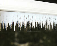 2m Long Window Border Cling Sticker Icilcles Ice Vintage Christmas Decoration