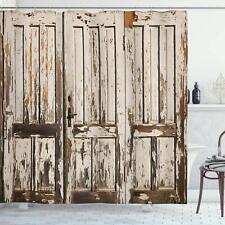 Farmhouse Vintage Barn Wood Decor Shower Curtain