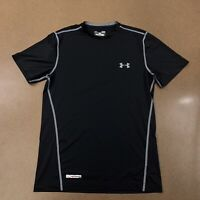 Under Armour Fitted Heat Gear Men's Small Black Short Sleeve Athletic T-Shirt