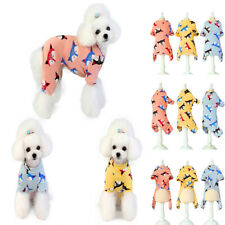 Pet Dog Cat CWarm Cotton Pajamas Clothes Puppy Winter Apparel Coat Jumpsuit Soft