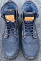 Levi Strauss U.S. Size 9.5 Men's Hi Top Blue Denim Shoes