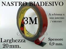 3M Nastro BIADESIVO FORTE 20MM X 3M PROFESS Auto Casa Hobby SCHIUMA ACRILICA Led
