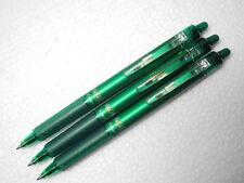 ( 3 Pens ) FRIXION Erasable retractable  PILOT 0.7mm roller ball pen, Green