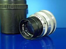 Soviet lens (OKS) RO 3 - 3M Red P 50mm  f 2 LOMO KMZ. Mount  M 39 + adapter M 42