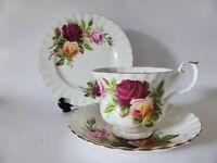 "Royal Albert ""Kings Ransom"" Bone China Trio, Tea Cup, Saucer & Plate, Floral"