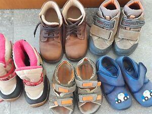 Schuhpaket Kleinkinder Gr. 24 & 25: Sandalen, Hausschuhe & Winterschuhe