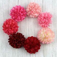 "Red&Pink 2"" 30Pcs Artificial Silk Flowers Heads Fake Flora Hydrangea DIY Craft"