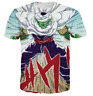 New Women Men 3D T-Shirt Dragon Ball Piccolo Print Casual Short Sleeve Tops Tee