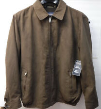 Roundtree & Yorke Outerwear Brown Size LT Fully Lined Jacket New Mens Coat