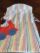 Vintage Glenna Jean Hanging Nursery Diaper Stacker Holder Rainbow Stripe W Train