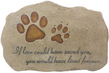 JSYS Pet Memorial Stone Marker for Dog or Cat for Outdoor Garden, Backyard, or