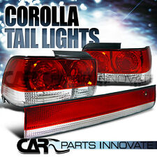 Toyota 93-97 Corolla Tail Lights Rear Brake Lamp+Center Trunk 3PC Red Clear