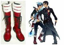 Ao no Azul Exorcista Rin Okumura Botas Zapatos bota de Disfraz de utilería Zapato UK