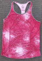 Nike Dri Fit Women's Size Large Pink White Racerback Running Workout Tank Top