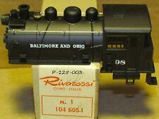 P-125-003,104 605-1 DOCK SIDE TANK LOCO SHELL B&O # 98 NICE BY AHM RIVAROSSI NEW