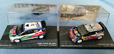 2 x Ixo 1:43 WRC Rally Cars Hirvonen Ford Fiesta RS + Loeb Citroen DS3 New