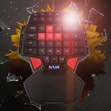 T9 USB Wired Gaming Keyboard Double Space Key LED BackligZV One/Single Hand ZA