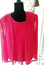 Vintage R &M Richards. Size 14 Tank Top With Chiffon Jacket Satin Piping Bust 42
