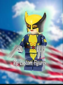 FEMALE WOLVERINE X-Men Superman Falcon Minfiigure New Marvel DC Comics lego MOC