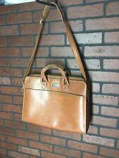 Hartmann Leather Briefcase Messenger Travel Bag w/ Strap