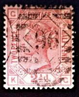 CatalinaStamps: Great Britain Stamp #66 Used Plate 3, SCV=$135, #A-2