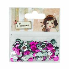 Santoro Willow Premium - Mixed Bag of Silver, Purple And Dusky Pink Sequins