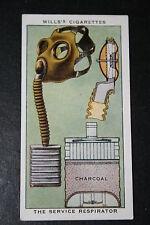 British World War 2 Service Gas Mask  1930's Vintage Card  # VGC