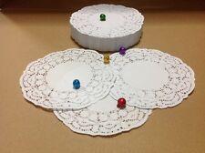 "LOT 4.5"" INCH/250 PCS White Round Paper Lace Doilies DIY Cardmaking Scrapbooking"