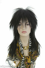 Rock Star Long Blonde Brunette Red & Fun Color Straight Costume Wigs